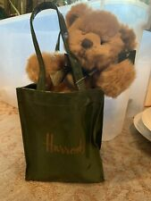 Bear in Harrods Logo Shopping Bag, Made in England New With Tags