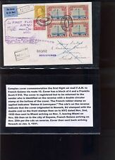 Scott #C11, 510 & 567 on Registered FAM Route 10 Cover to French Guyana (Lot713)