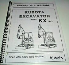 Kubota KX71-3 Excavator Operators Owners Maintenance Manual OEM 9/04
