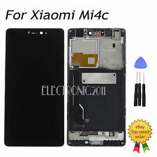 New For XiaoMi 4C Mi4C M4C Black LCD Display Touch Screen Assembly - Frame