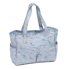 Hobby Gift A Dog's Life Matt PVC Craft Tote Knit Sewing Shoulder Bag MRB446