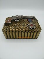 Western Pistols and Bullets Trinket  Box Hand Painted New