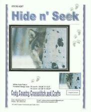 HIDE N SEEK Wolf Counted Cross Stitch Pattern - Full Stitches Only