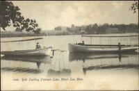 Albert Lea MN Fountain Lake Boats c1905 Postcard