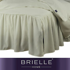 Brielle Stream Ruffled Bed Skirt NEW