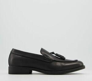 Mens Office Maverick Loafers Black Leather Formal Shoes