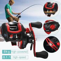 Baitcasting Fishing Reel 18+1BB Ultralight Wheel Max Drag 8kg Casting Reel RH/LH