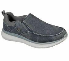 Canvas Skechers Black Shoes Men Memory Foam Slip On Comfort Loafer Casual 210025