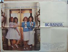 Bette Midler  Lily Tomlin BIG BUSINESS(1988)Original UK quad cinema poster