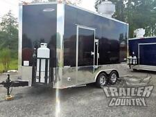 NEW 8.5 X 14 Enclosed Mobile Kitchen Tail Gate Food Vending Concession Trailer