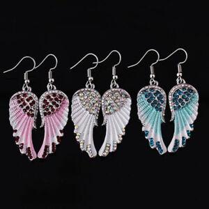 Angel Wings 925 Silver Drop Earrings for Women Wedding Jewelry Gift A Pair/set
