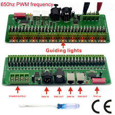 30 channel DMX rgb LED strip controller dmx 512 decoder dmx dimmer driver 12V