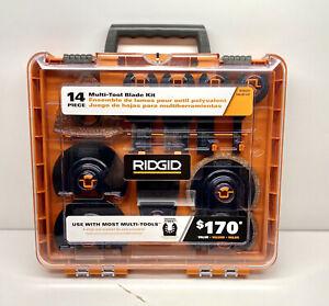 RIDGID AC24J14 14pc JOBMAX Universal Oscillating Multi Tool Blade Accessory Kit