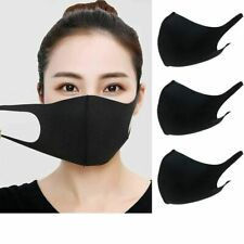 Unisex Pack of 3 Washable Breathable Reusable Mouth Protection Face Covering