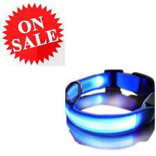 Safety Dog Blue Multi-Function Adjustable Flashing LED Light Pets Night Collar