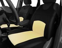 2 ECO LEATHER FRONT SEAT COVERS for FIAT 500 PANDA 500L TIPO