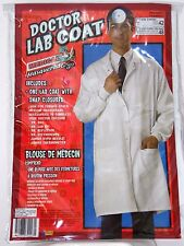 White Doctor's Lab Coat Men's Size 48 Costume Halloween Party School Theater