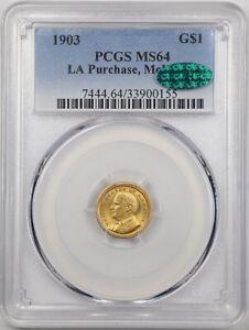 1903 G$1 LA Purchase McKinley Gold Commemorative Dollar MS64 PCGS 33900155 CAC