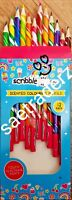 12 Scented Scribble Colouring Pencils for kids age 3 + (UK SELLER)