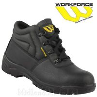 Mens Safety Rigger Boots Steel Toe /& Midosle WorkForce WF26