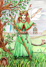 Yule Card Solstice Womens Pagan Medieval Game of Thrones Snow fairy Celtic