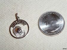 Vintage 3D Sterling Silver Charm CALGARY Round with COWBOY HAT CANADIAN