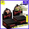 3300 Cartine Smoking LUNGHE NERE DE LUXE KING SIZE 2 Box 100 Libretti
