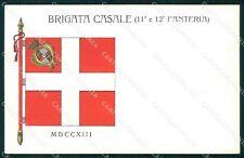 Militari 11º 12º Reggimento Fanteria Brigata Casale cartolina XF4387