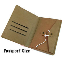 Kraft File Folder with Envelope for Passport Size Midori Travelers Notebook