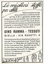 W3550 Tessuti GINO RAMMA le migliori stoffe per abiti - Pubblicità 1940 - Adv.