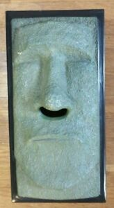 "Easter Island Tiki Statue Tissue Box Cover 10-1/4""x5-3/16""X3"" Rotary Hero"