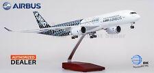 "Airbus A350 XWB Carbon Livery Aeroplane Plane Model Prototype LED 47cm 18"" 1:160"