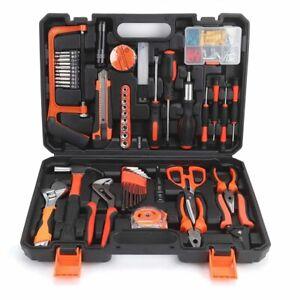 82PCS Hardware Hand Tool Kit Set Home Car Wrench Repair Daily Maintenance Tape
