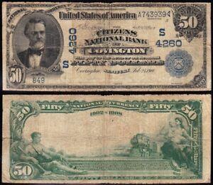 "RARE 1902 $50 COVINGTON, KY ""Dateback"" National Banknote! FREE SHIPPING! A743939"