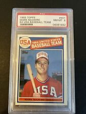 New listing 1985 Topps #401 Mark McGwire Rookie PSA8 NM-MT A's