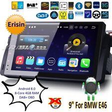 "Android 8.0 E46 Autoradio BMW MG ZT Rover 75 3 Series M3 Car GPS OBD DAB+9""8896F"