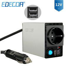 EDECOA Spannungswandler 12V 230V 300W 600W Wechselrichter Inverter 2 X 2.1A USB