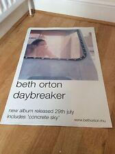 Beth Orton 'Daybreaker' Original Record Company Promo Poster 2002 RARE