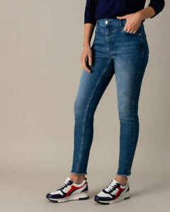 """AB.4444 Designer 5-Pocket Jeans mit Fransensaum """"jeansblau"""" Gr. 50"""