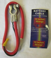 """Universal Battery Cable 6ga x 19"""" for top post battery"""