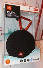 Brand New JBL Clip 2 Waterproof Portable Bluetooth Speaker - Black
