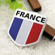 Auto Aluminum 3D France French Flag Shield Emblem Badge Car Bike Decals Sticker