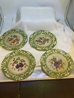 La Toscana Pamela Gladding Certified International set of 4 Salad/Dessert Plates