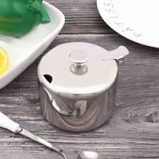 Stainless Steel Kitchen Cans Sugar Storage Jar Container Salt Pot