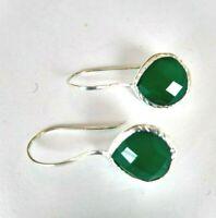 Onyx  Ohrringe, 925 Silber