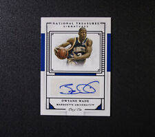 Dwyane Wade One of One 1/1 National Treasures Miami Heat Autograph 2016