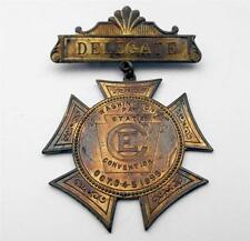 Old Antique Pin CHRISTIAN ENDEAVOR DELEGATE C.E. Pinback Medal Washington PA