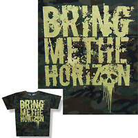 Bring Me The Horizon Camo Camouflage Kids T Shirt Youth Medium New