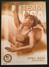 2016 Topps Olympics Gold 5X7 Jumbo Card April Ross USA Volleyball #/10 Rare