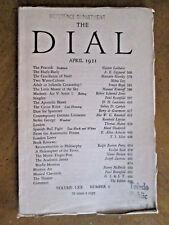THE DIAL April 1921 D H LAWRENCE A E Coppard THOMAS MANN Plates